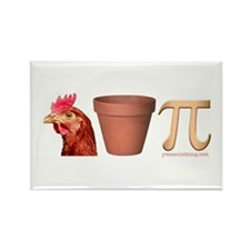 Chicken Pot Pi Rectangle Magnet