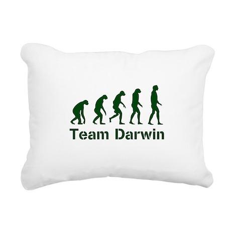 Team Darwin (green) Rectangular Canvas Pillow