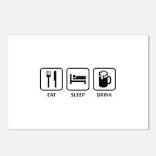 Eat Sleep Drink Postcards (Package of 8)