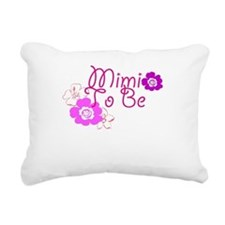 Mimi To Be Flowers Rectangular Canvas Pillow