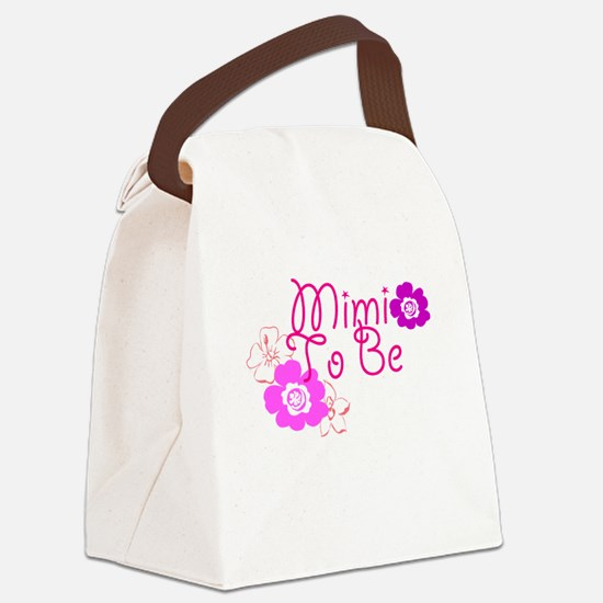 Mimi To Be Flowers Canvas Lunch Bag