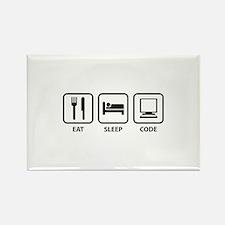 Eat Sleep Code Rectangle Magnet