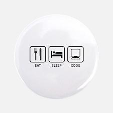 "Eat Sleep Code 3.5"" Button"