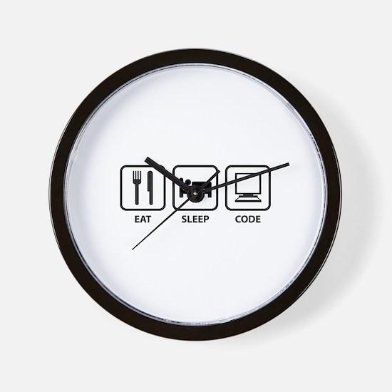 Eat Sleep Code Wall Clock