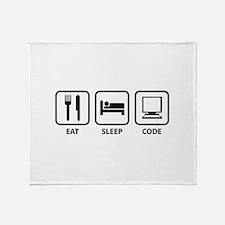 Eat Sleep Code Throw Blanket