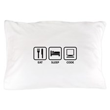 Eat Sleep Code Pillow Case