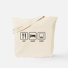 Eat Sleep Code Tote Bag