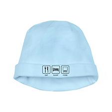 Eat Sleep Code baby hat