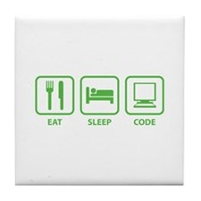 Eat Sleep Code Tile Coaster