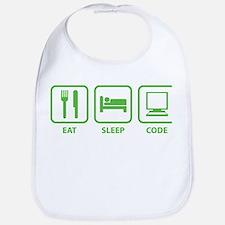 Eat Sleep Code Bib