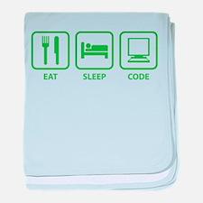 Eat Sleep Code baby blanket