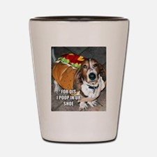 Grumpy Basset Shot Glass