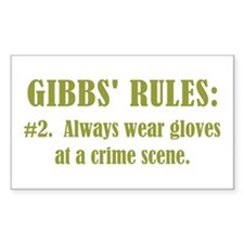 GIBBS' RULES #2 Decal