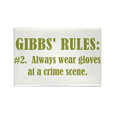 GIBBS' RULES #2 Rectangle Magnet (100 pack)