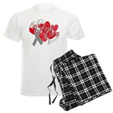 Brain Cancer Love Hope Cure Pajamas