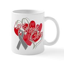 Brain Cancer Love Hope Cure Mug