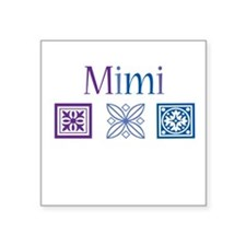 "Mimi Quilt Blocks Square Sticker 3"" x 3"""