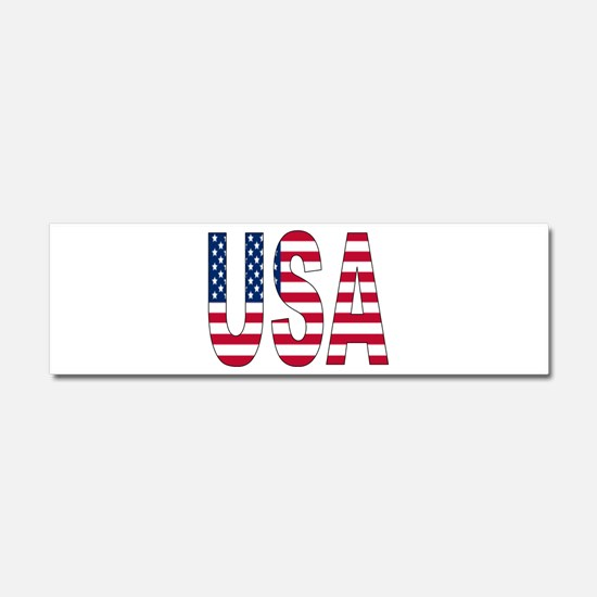 USA flag Car Magnet 10 x 3