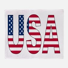 USA flag Throw Blanket