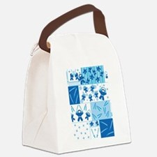 blue_ninja_fabric.png Canvas Lunch Bag