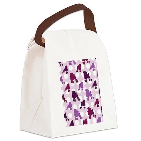 purple_Poodle_ipad.png Canvas Lunch Bag