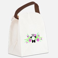 Pretty Panda Canvas Lunch Bag