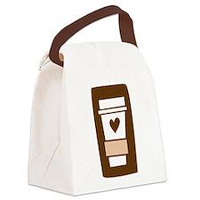 latte.png Canvas Lunch Bag