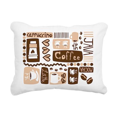 coffee_pattern.png Rectangular Canvas Pillow