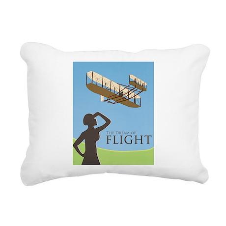 wright flyer poster.jpg Rectangular Canvas Pillow