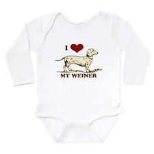 I love my Weiner Dog! Onesie Romper Suit
