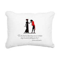 Fond of Dancing Rectangular Canvas Pillow