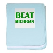 Beat Michigan baby blanket