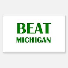 Beat Michigan Decal