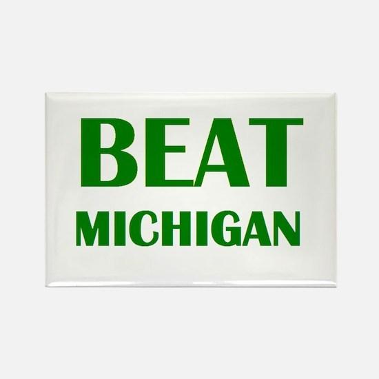 Beat Michigan Rectangle Magnet