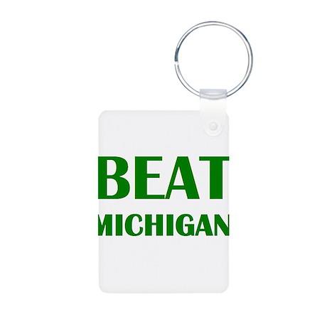 Beat Michigan Aluminum Photo Keychain