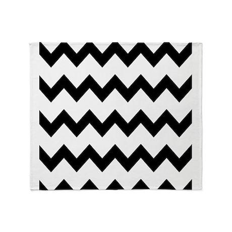 Black White Chevrons Throw Blanket