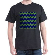 Blue Green Chevrons T-Shirt