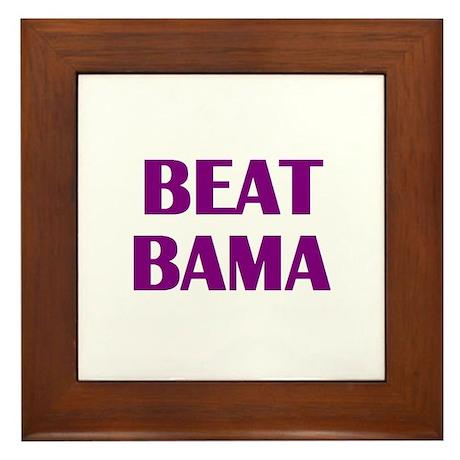 Beat Bama Framed Tile