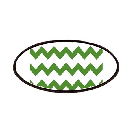 Green White Chevrons Patches