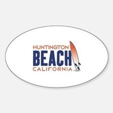 Huntington Beach Sticker (Oval)