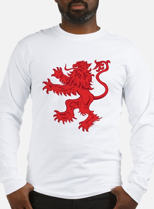 Lion Red Long Sleeve T-Shirt