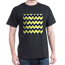 Yellow Navy Blue Chevrons T-Shirt