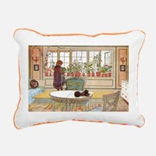 Girl at Window Rectangular Canvas Pillow