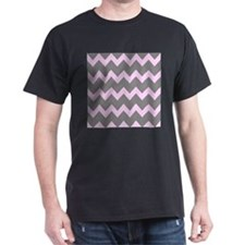 Pink Gray Chevrons T-Shirt