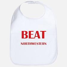 Beat Northwestern Bib