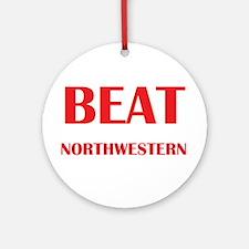 Beat Northwestern Ornament (Round)