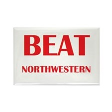 Beat Northwestern Rectangle Magnet