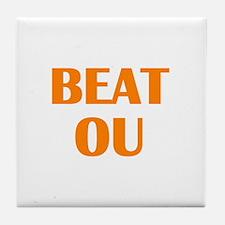Beat Oklahoma Tile Coaster