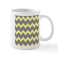 Yellow Gray Chevrons Mug