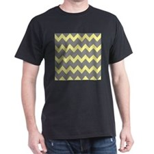 Yellow Gray Chevrons T-Shirt